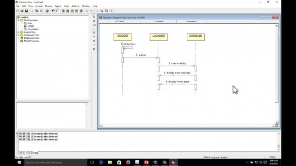 Sequence Diagram Example For Login Form With Rational Rose