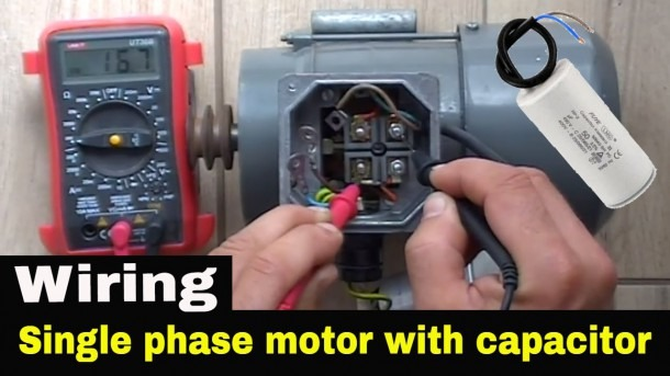 How To Wire Single Phase Motor With Start Run Permanent Capacitors