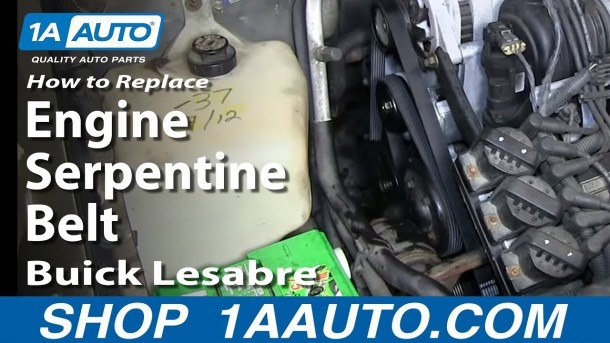 How To Replace Install Engine Serpentine Belt 1996