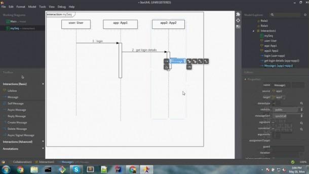 How To Draw Sequence Diagaram Using Staruml