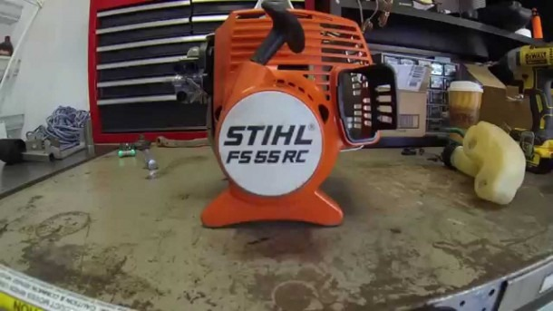 Stihl Fs55 Rc Clutch Drum, Clutch, And Flywheel Removal