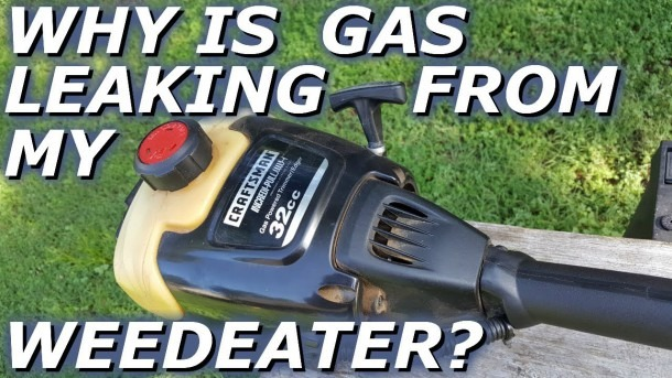 Craftsman Weedeater Leaking Gas  Fuel Line Repair And Replace