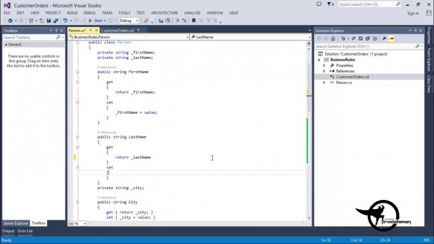Add Methods & Constructors In A C   Net Class Diagram Vs 2013