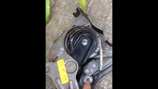 Parking (emergency) Brake Assembly And Cable Removal