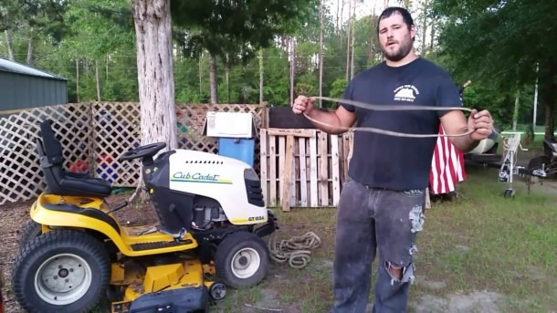 How To Replace Cub Cadet Drive Belt Without Taking Off Mower Deck