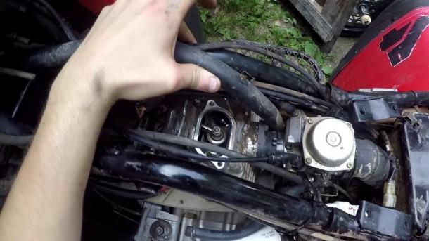 How To  Honda 300 Fourtrax Valve Adjustment Valve Clearance