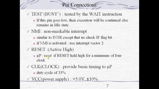8086 Pin Configuration Tutorial