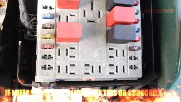 Fiat Punto Grande 2006 Fuse Box Diagram