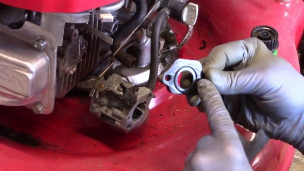 Carb Assembly On A Honda Gvc 160 Lawn Mower