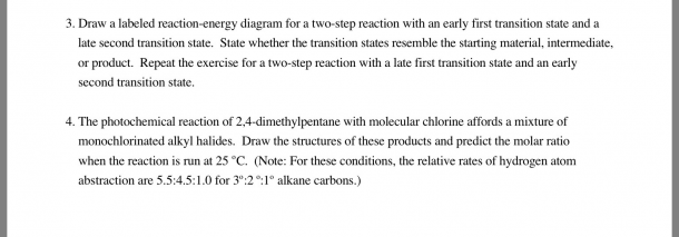 Solved  Draw A Labeled Reaction