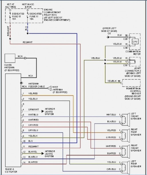 1998 Mitsubishi Eclipse Radio Wiring Diagram