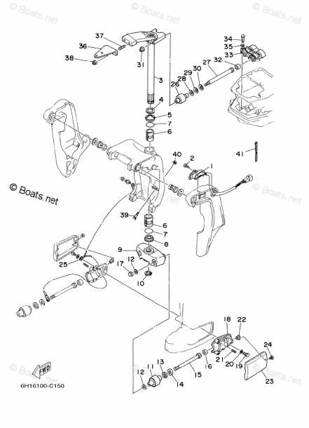 Yamaha Outboard Parts By Hp 90hp Oem Parts Diagram For Bracket 2
