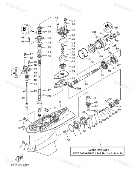 Yamaha Outboard Parts By Hp 300hp Oem Parts Diagram For Lower