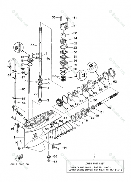 Yamaha Outboard Parts By Hp 90hp Oem Parts Diagram For Lower