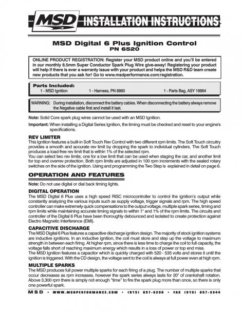Msd 6520 Digital 6