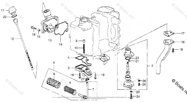 Honda Outboard Parts By Hp & Serial Range 10hp Oem Parts Diagram