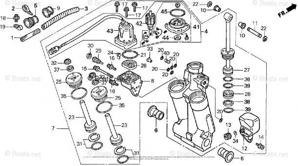 Honda Outboard Parts By Hp & Serial Range 75hp Oem Parts Diagram