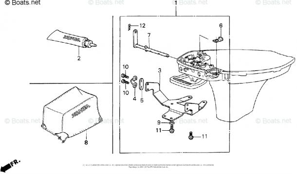 Honda Outboard Parts By Hp & Serial Range 8hp Oem Parts Diagram