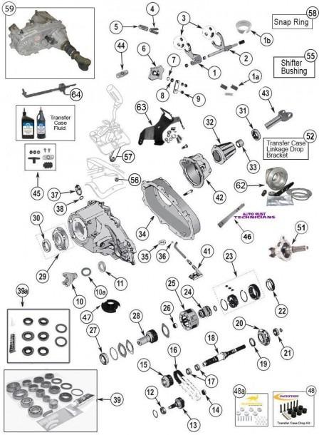 Np 231 Transfer Case Parts For Wrangler Tj, Yj, Cherokee Xj, Grand