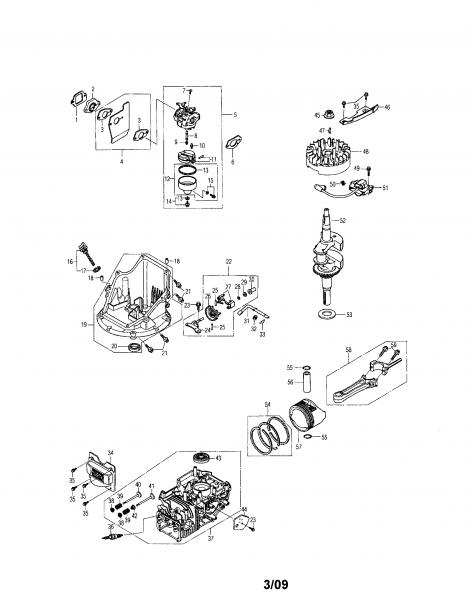 Honda Engine Parts Name Diagram
