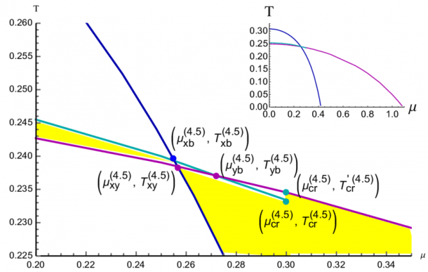 Phase Transition Diagram For The Longitudinal Wilson Line W X
