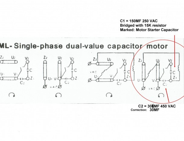 6 Lead 2 Capacitor Motor Wiring Diagram