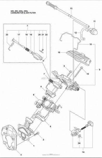 Solo 450 Parts Diagram Husqvarna 450 E (2009