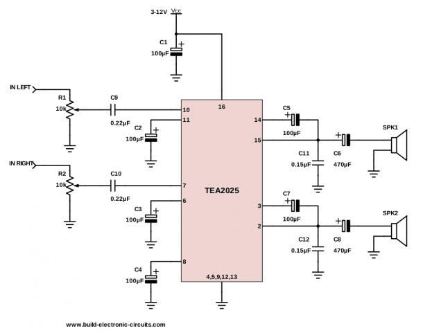 The Simplest Audio Amplifier Circuit Diagram