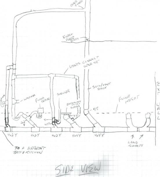Lofty Inspiration Basement Rough In Plumbing Diagram 24