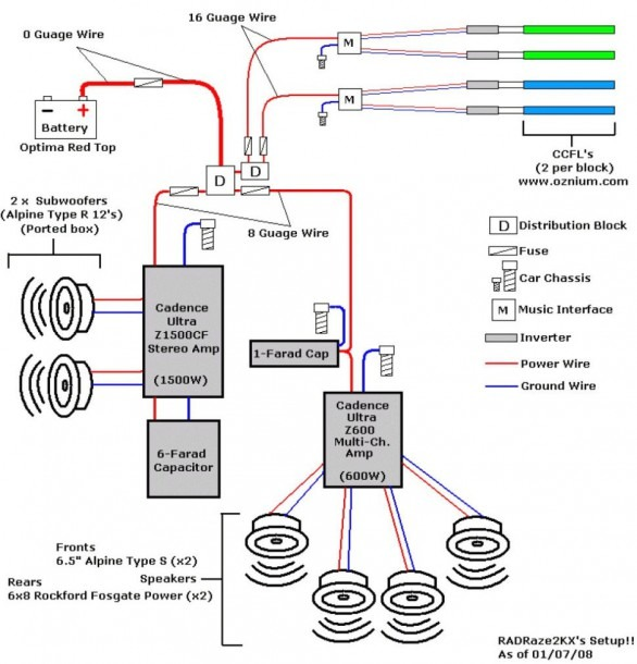 Subwoofer And Capacitor Wire Diagram