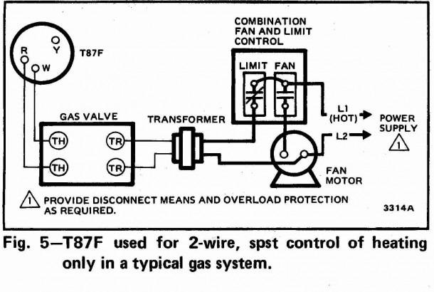 Honeywell Room Thermostat Wiring Diagram