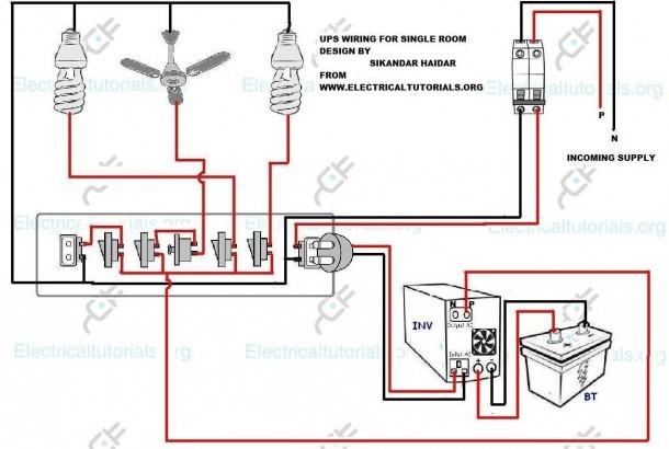 Wearing Diagram Ups Wiring Inverter For Single Room Inside Home