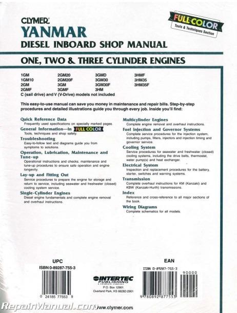 Yanmar Diesel Inboard Boat Engine Shop Manual – One, Two, Three