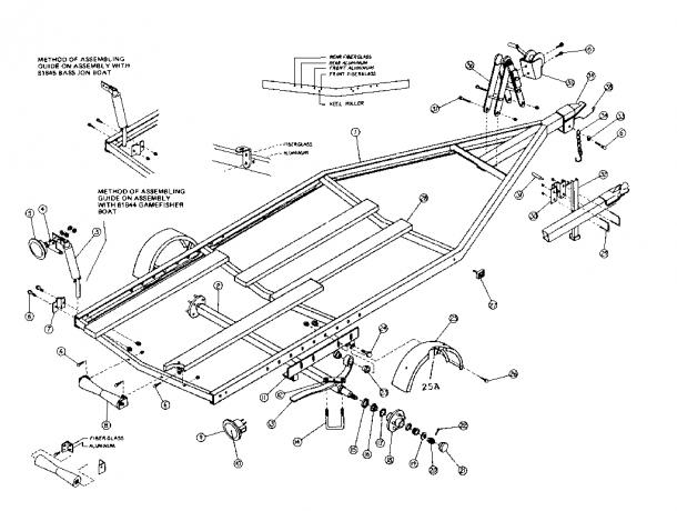 Sears Model 371619760 Trailers Genuine Parts