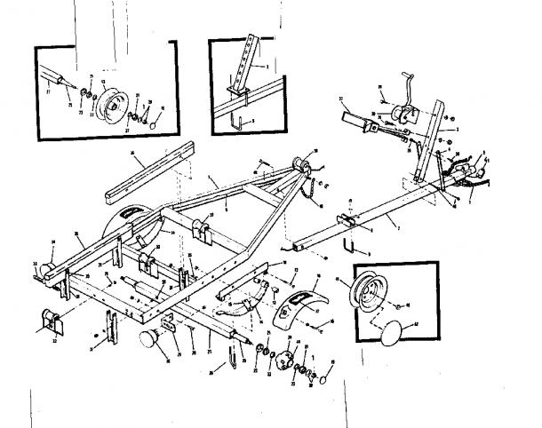 Sears Model 371615460 Trailers Genuine Parts