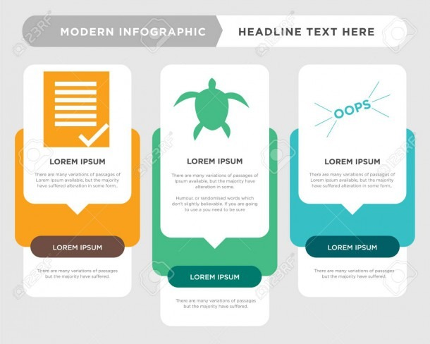 Oops Business Infographic Template, The Concept Is Option Step