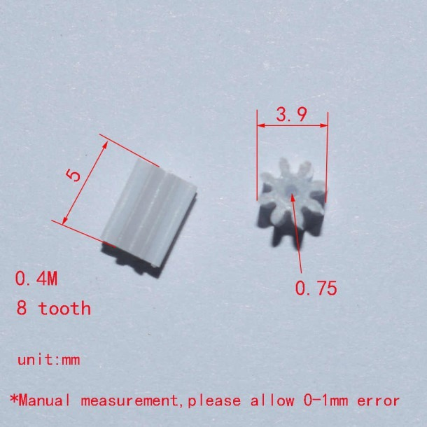 Detail Feedback Questions About 10 100 1000pcs 0 4modulus 8 Teeth