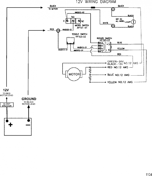 Wire Diagram(model 752) (12 Volt)