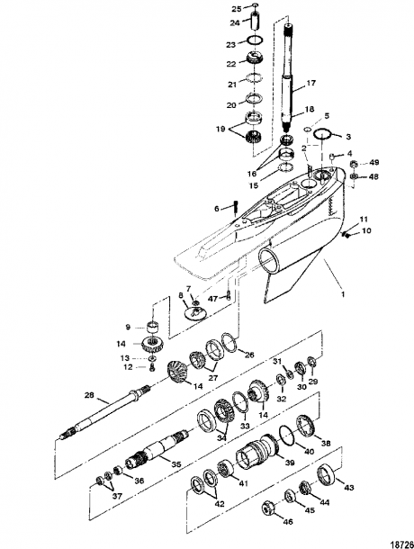 Mercruiser   Bravo I Ii Iii Sterndrive And Transom Assembly