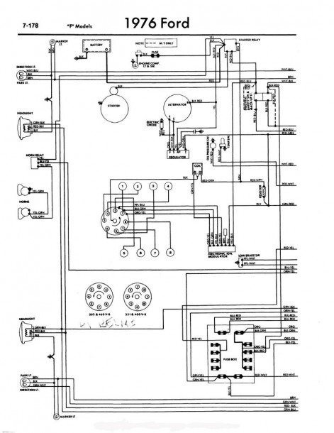 76 Ford Truck Steering Column Wiring Diagram