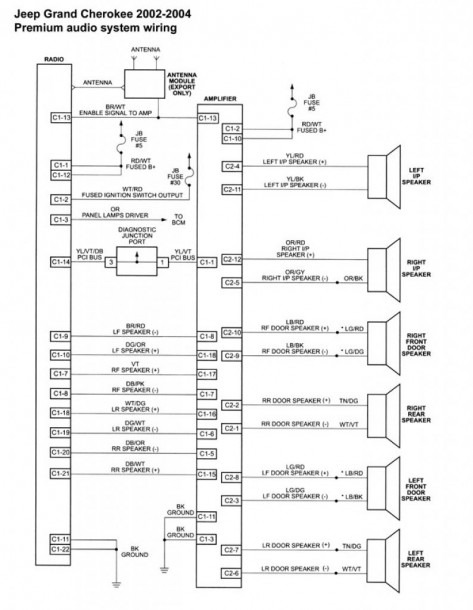 1997 Jeep Grand Cherokee Limited Speaker Wiring Diagram