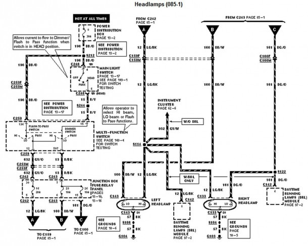 1997 Ford F 350 Power Window Circuit Diagram