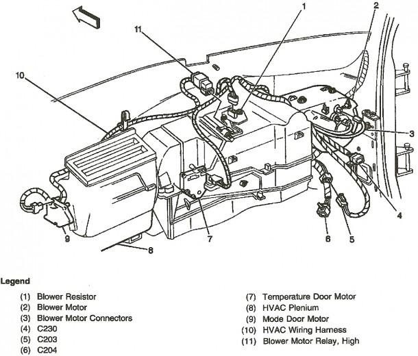 2004 Gmc Heater Diagram