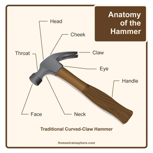 Parts Of A Hammer (awesome Diagram)