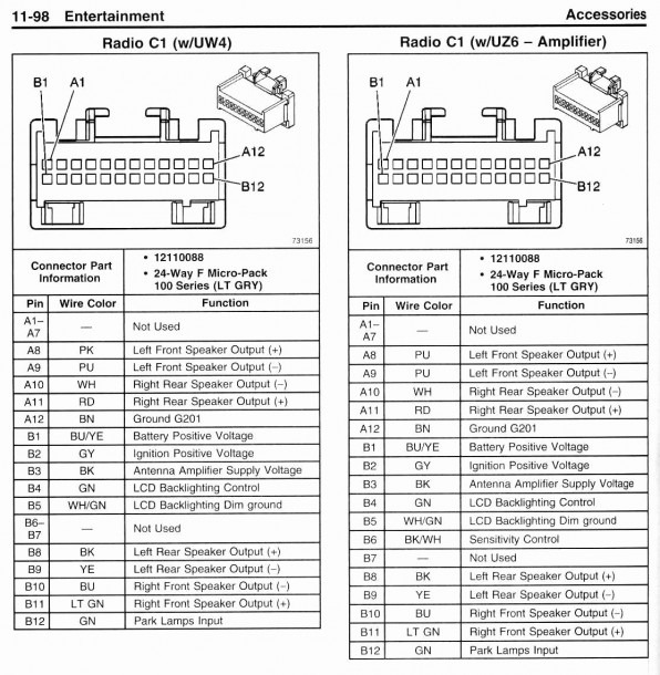 2002 Chevy Tahoe Stereo Wiring Diagram from www.mikrora.com