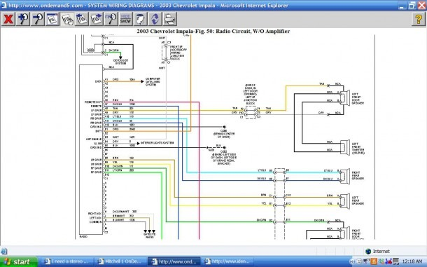 I Need A Stereo Wiring Diagram For A 2003 Chevy Impala  Can You