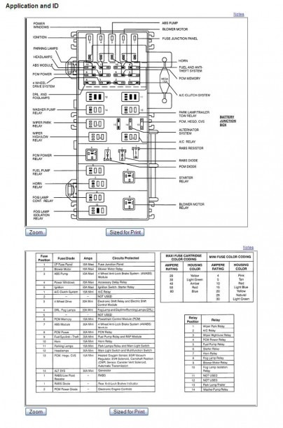 I Need A Diagram Of A Power Distribution Box For A 99 Ford Ranger