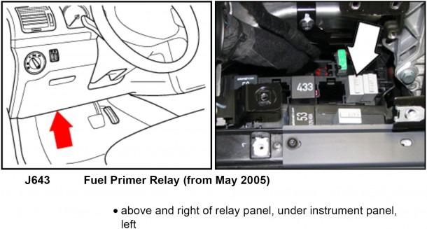 Vw Fuel Pump Wiring