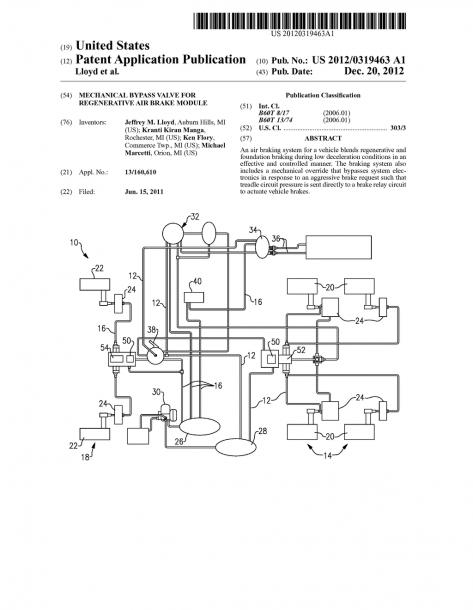 Mechanical Bypass Valve For Regenerative Air Brake Module