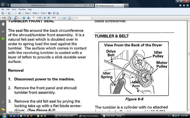 I Am Attempting To Replace The Drive Belt On A Maytag Mde9700ayw